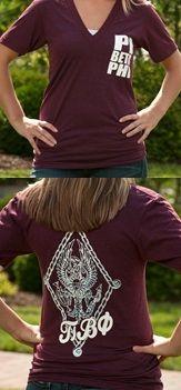 Pi Beta Phi crest t-shirt #piphi #pibetaphi