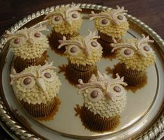 Golden Owl Cupcakes  on Cake Central