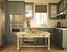 Grey, Green And Everything Inbetween – Colorful Kitchen Cabinets… | Fabulously Finished