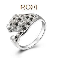 Купить товарRoxi подарок леопарда кольца Высокое качество сделать с подлинной ксв кристалла, 100% ручной работы мода ювелирные изделия, 2010007350 в категории Кольцана AliExpress.                    Заказ до           50 USD            , А затем получить           подарок           от нас (