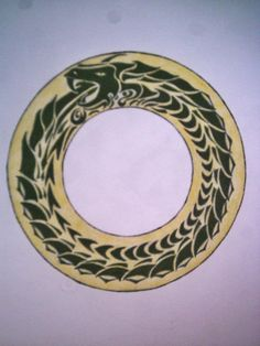Earth VI Ouroboros guides into the circular and the cyclic ~ Master of Completion A Discovery Of Witches, Hades And Persephone, Ancient Symbols, Spirit Animal, New Tattoos, Cosmic, Painting & Drawing, Geometry, Astrology