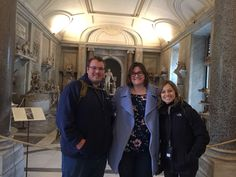 Visiting the Vatican museum while you're in Rome is a must! But don't wait through that whole queue, visit the museum when it's nice and quiet like our clients did on March 5th! Giulia and our clients enjoy skip the line access into the Museum to be able to visit both the highlights & lesser known areas before the busy crowds.