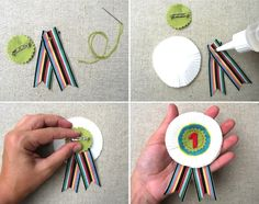 DIY Prize Medal Ribbon Brooch | Heartmade Blog