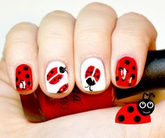 Hello Everyone! My New Ladybug Nail Art! If you try and don't give up, my Nail Art Channel will make you a master! WELCOME to my Nail Art channel dedicated t...