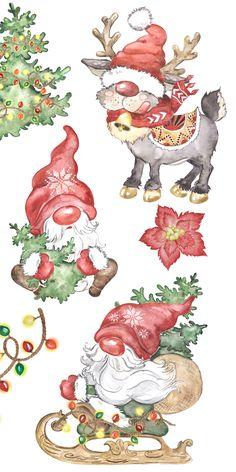 Christmas Rock, Christmas Card Crafts, Christmas Drawing, Christmas Scenes, Christmas Gnome, Christmas Clipart, Christmas Paintings, Christmas Printables, Christmas Projects