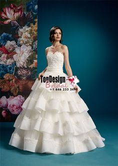 2017 White Tiers Lace Up Sweep Appliques Bridal Gown Tulle Wedding Dresses
