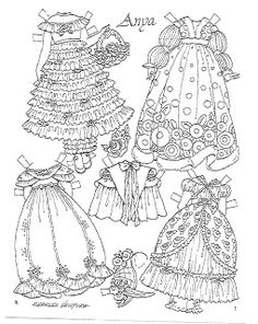 """""""Anya Imagines"""" paper doll Date:80s-90s Publisher: unknown   Artist:Charles Ventura - Miss Missy Paper Dolls"""