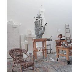 Sculptures' studio #richardtexier