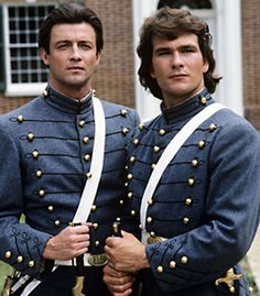 James Read and Patrick Swayze in North and South (Fackeln im Sturm)