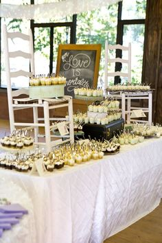 Crafty dessert table ideas #desserttable