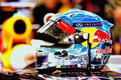 Seb's helmet for pre-season testing in Bahrain. Formula 1, Motorsport Events, Watch F1, F1 News, F1 Season, Red Bull Racing, Helmet Design, Father And Son, Motogp