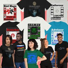All the Ravnica Guilds, Funny, Themed and Parody MTG T Shirts. Uniquely One of a Kind! Magic The Gathering, Mtg, Etsy Seller, Funny, Creative, T Shirt, Stuff To Buy, Women, Supreme T Shirt