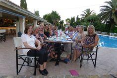 Pre wedding evening meal at Spiti Prifti Pool Bar