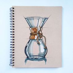 chemex coffee maker (#productdesign #productdesigner #industrialdesign #idsketching #sketch #sketchbook #sketching #drawing #illustration #coffee #chemex)