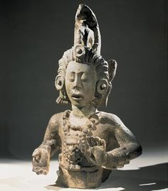Stone sculpture representing the young Maize or Corn God. From Copan, modern Honduras, 600-800 AD.