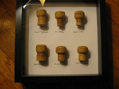 Save wine corks & frame them to remember important celebrations/events.