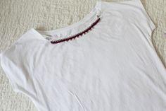 T-shirt con catena t-shirt con collana di MoryandAleCreations