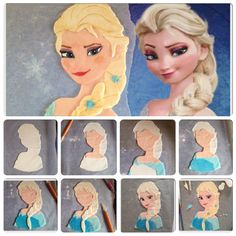 Tutorial Elsa per torta Frozen - Frozen Elsa cake Tutorial                                                                                                                                                                                 More