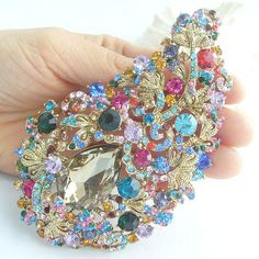 Golden Tone Plated Bouquet Floral Brooch Pin by VanessaJewel, $19.99