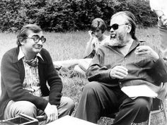 Claude Chabrol and Orson Welles during the making of La Décade prodigieuse