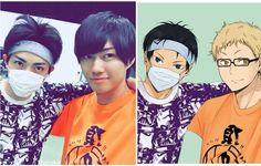 Kageyama with Tsukki!