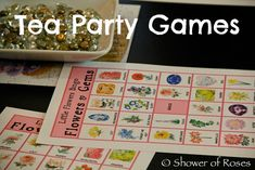 Shower of Roses: Little Flowers Girls Club Tea Party Games