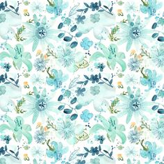 Mixed blue flowers and vegetals illustration pattern Watercolour  SS 2016 watches capsule collection by Ju'sto, an italian brand of accessories
