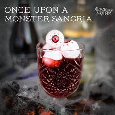 Monster Wine Sangria #Pinot #OUAV #Halloween  Serves 1  3 oz Once Upon A Vine™ Charming Pinot  .25 oz Once Upon A Vine™ Lost Slipper Sauvignon BlancSauvignon Blanc .5 oz lime Juice 1 oz grenadine