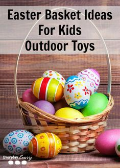 Get ready for Spring with some really fun outdoor toys in your kids' baskets this year. I love tucking a really fun outdoor toy in my kids' Easter basket and they are just thrilled on Easter morning. It gets them excited about playing outside and I can hide the fact that I didn't stuff their Easter baskets with tons of candy.