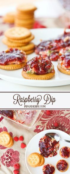 Raspberry Dip | this appetizer is such a crowd pleaser! Great served with Ritz crackers.