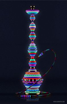 This florescent hookah that will one day become part of our lives. | 39 Impossibly Trippy Products You Need In Your Home
