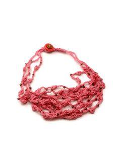 Crochet Necklace Three Strands  Bobble Stitch by ToppyToppyKnits, $20.00