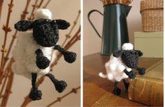 Crochet Shaun the sheep by helenahaakt.blogspot.com (Schaap haken)