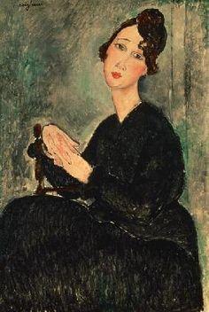 Amadeo Modigliani - Portrait of Dedie (Dedicated to Odette Hayden)