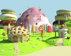 3d Modeling - Sugar Rush on Behance