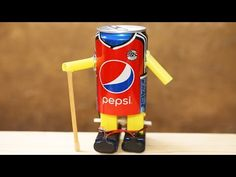 How To Make The  Cutest Walking Robot On Youtube - YouTube Cupboard Design, Electronics Projects, Pepsi, Science Experiments, Arduino, Engineering, Walking, Diy, Maker Space