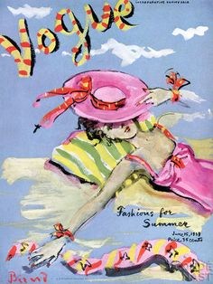 American Vogue, June 15, 1939. Illustration: Christian Berard.