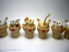 Flowerpot Mice by Quernus Crafts http://www.quernuscrafts.co.uk