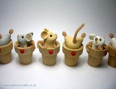 Flowerpot Mice by Quernus Crafts http://www.quernuscrafts.co.uk