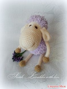 Sheep Amigurumi - Free Russian Pattern here: http://mmodnaya.ru/post342040413/