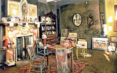 Rosie Millard offers 10 tips to copy the Arts and Crafts interiors of Charleston House, the Bloomsbury Group's retreat in East Sussex