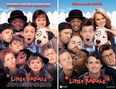 'The Little Rascals' Movie Poster Reshot for the Comedy's 20th Anniversary Reunion I DID NOT WATCH THIS MOVIE BUT THE COMPARISON WAS INTERESTING TO ME