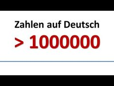 Deutsch: Wortschatz - Zahlen Million & mehr (deutsche Untertitel)/German: Numbers (German subs)