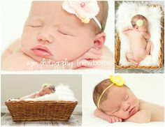 Newborn photography, newborn girl, birth announcement photos, Spring newborn session