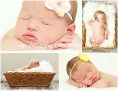 Newborn photography, newborn girl, birth announcement photos, Spring newborn session