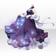 Lux in tenebris @games -アットゲームズ- Cartoon Outfits, Anime Outfits, Dress Drawing, Drawing Clothes, Pretty Outfits, Beautiful Outfits, Vestidos Anime, Cute Eyes Drawing, Blonde Goth