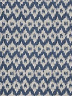 Fabricut Fabric - Flamme De France - Indigo 2798903 $44.75 per yard at DecoratorsBest #ethnic #ikat #decor