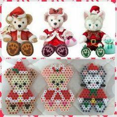 いいね!28件、コメント2件 ― らむでれら♡さん(@kuri_shizu)のInstagramアカウント: 「今年のクリスマスのコスチュームっぽく✨✨ #アイロンビーズ #ダッフィー #シェリーメイ #ジェラトーニ #クリスマスダッフィー」