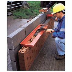 Bricky® :: Wall Building Tool :: Let's Build It Right! Brick Laying, Construction Tools, Brickwork, Home Repair, Diy Tools, Home Projects, Brick Projects, Building A House, Building Plans