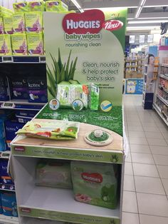 Huggies Baby Wipes Product Stand | The Selling Points Pos Display, Product Display, Point Of Purchase, Wet Wipe, Baby Skin, Retail Displays, Floor, Ads, Pavement